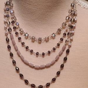 INC-Purple 4 Chain Necklace